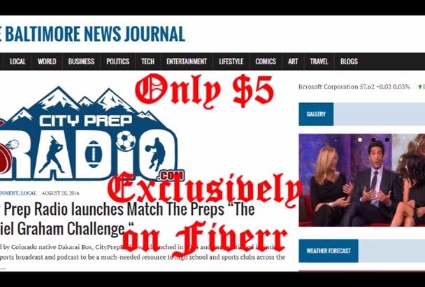 publish article on Baltimore News blog
