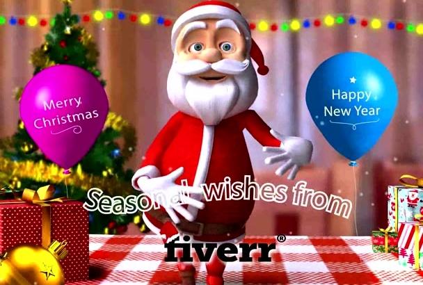 create happy Santa Claus Greeting Video