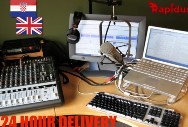 do a professional voice over in English or Croatian
