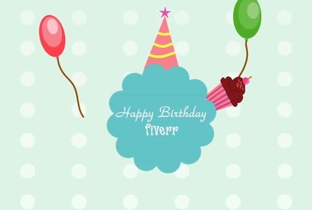 make cute Happy Birthday animated video