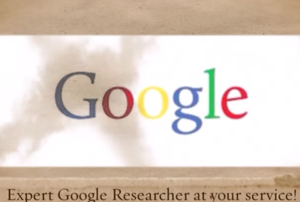 research any topic you need via Google