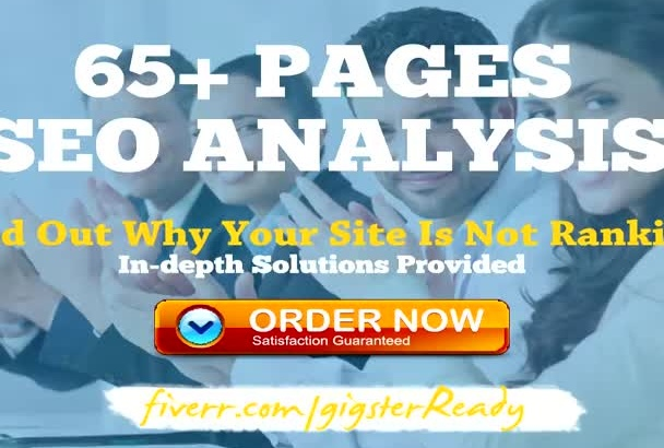 do an Indepth SEO Report Analysis for Ranking