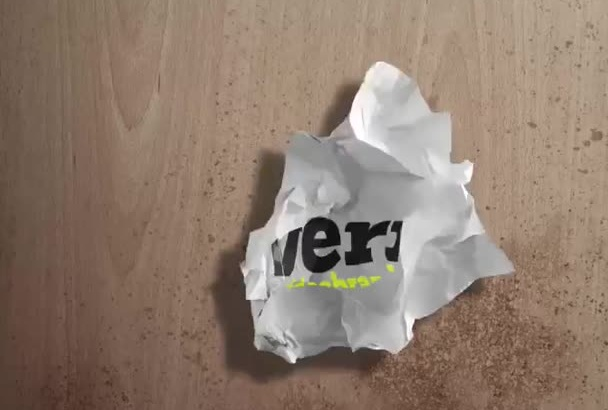 create this CRUMPLE logo Video