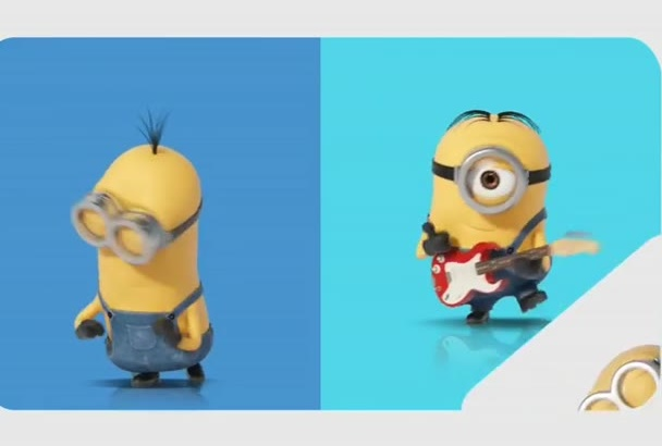 make you an intro with cute minions