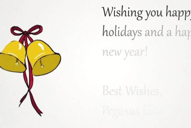create a holiday e card with an animated bell drawing