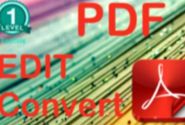 pdf edit, convert, create or make fillable pdf form