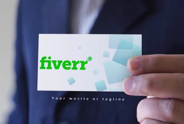 show your logo or business card in a video
