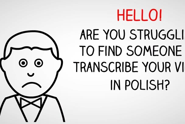 transcribe a 20 minute video in Polish