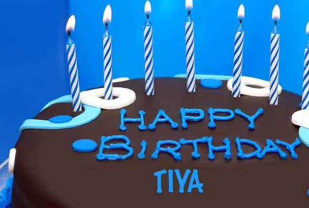 create happy birthday song with name of the person