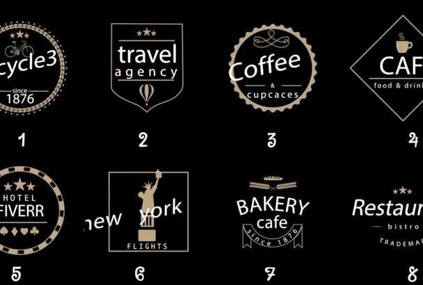 create custom animated logo badges label titles
