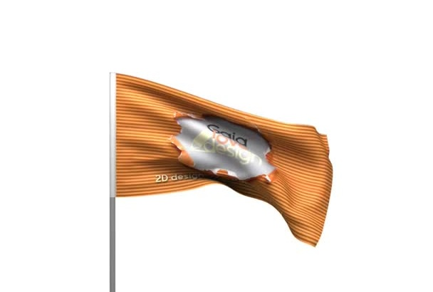 animate waving flag with your brand