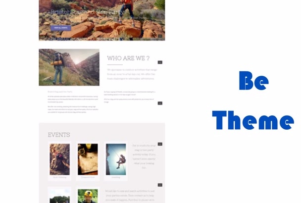 install be theme for wordpress