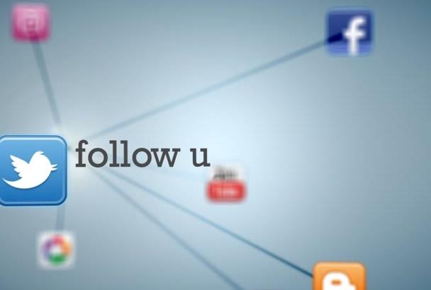 create a 3D social media intro outro in 24h