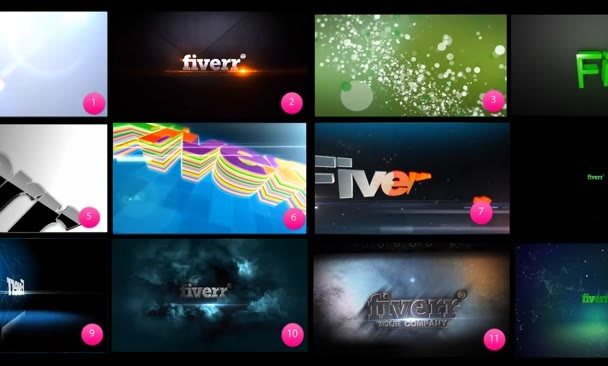 create amazing and Professional cinematic animated logo