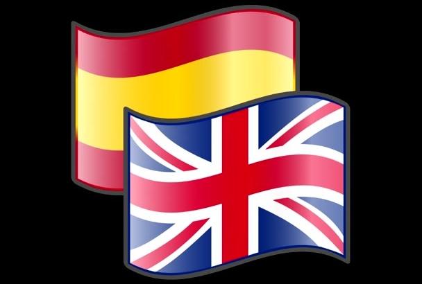 translate 1000 words Spanish to English and vice versa
