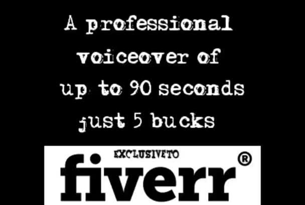voice anything up to 90 seconds