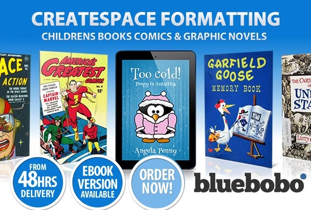 do Createspace formatting of your childrens book or comic