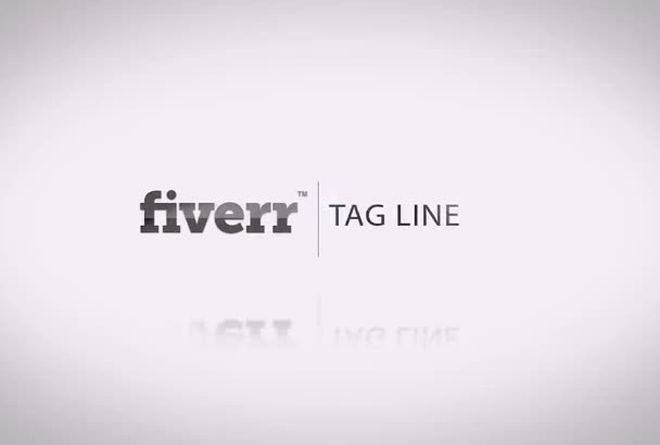 create clean corporate intro with your logo
