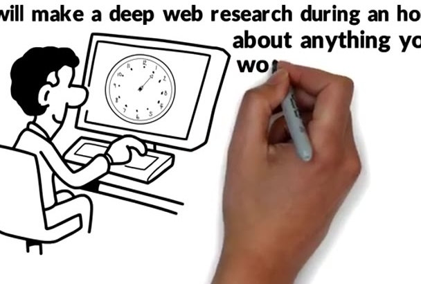 do any web research or collecting of any topic