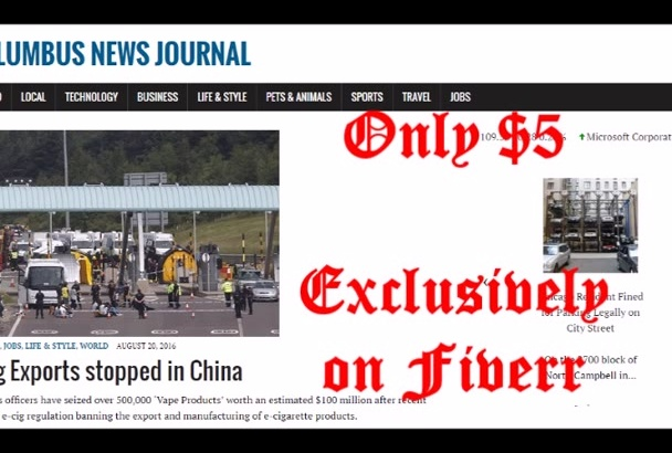 publish article on Columbus News blog