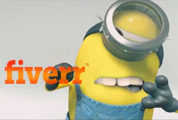 minion cleaning your logo  within 6 hour