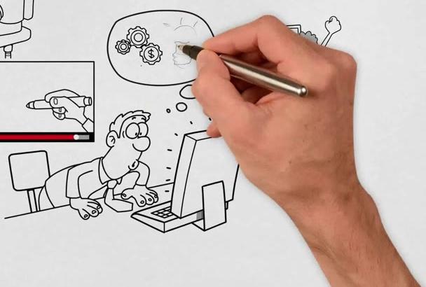 create Professional WHITEBOARD explainer animation video