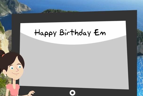 make a Happy Birthday video