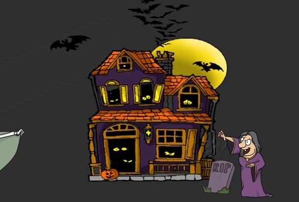 create a Halloween themed whiteboard or blackboard video