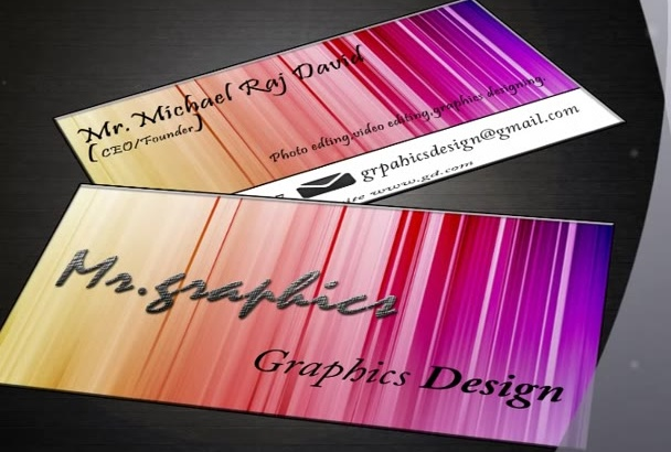design print ready business card