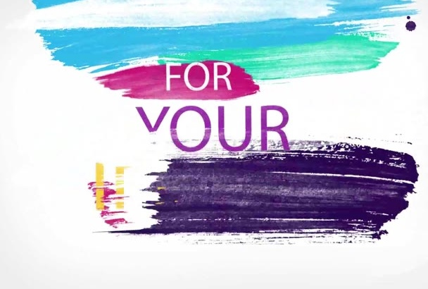 creat Colorful Brush Typography for you