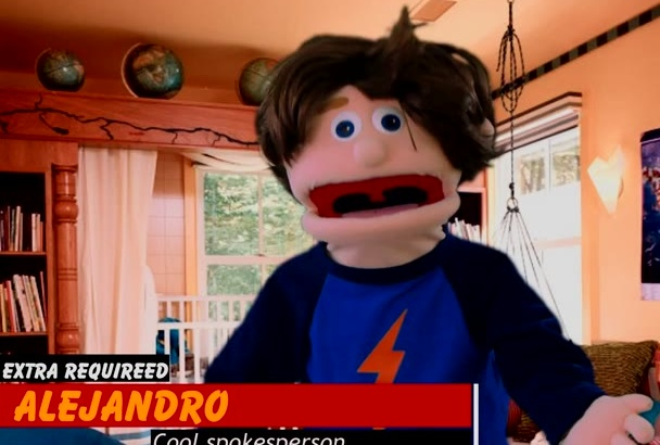 alejandro will record a PUPPET video in Spanish or English