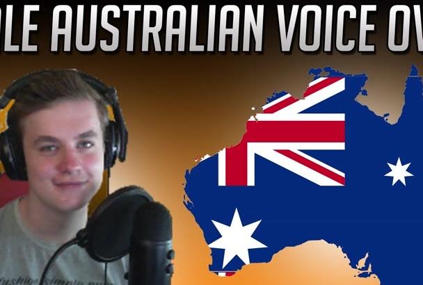 record a professional male Australian voice over