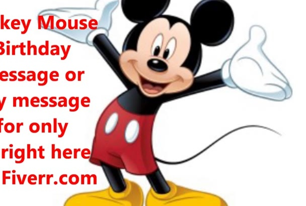 record a message in the voice of Mickey Mouse