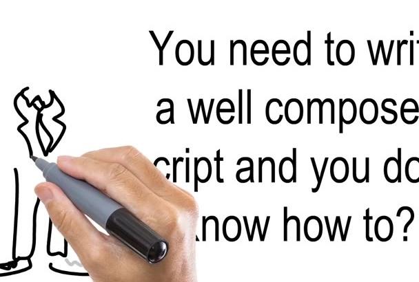 write a PROFESSIONAL whiteboard video script