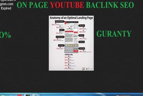 do youtube onpage backlink seo that make it  friendly