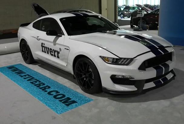 create a Mustang Car Logo Advertising video