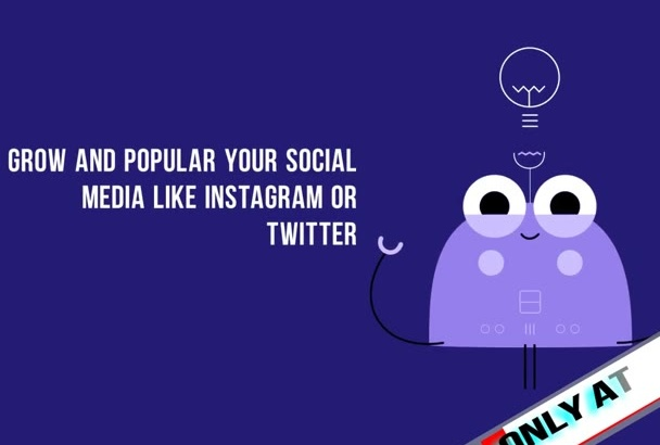 grow and Market your social media INSTAGRAM or twitter