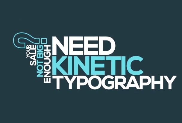 create kinetic typography video