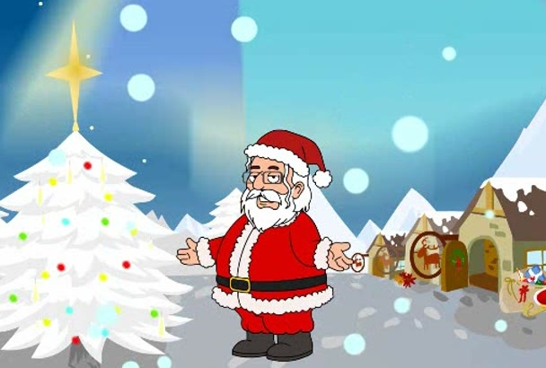 deliver an animated and personalized Christmas video