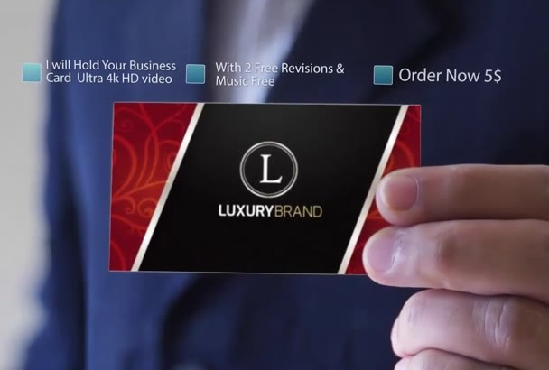 hold Your business card your business intro