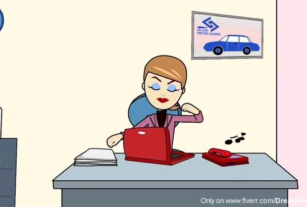 create Cartoon Animated online Business Explainer Video