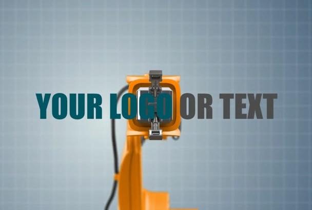 create this robot arm logo INTRO