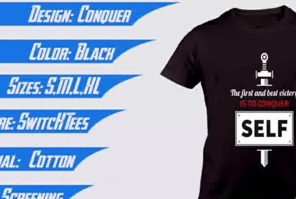 make eye catching Tshirts design i am excellent in it