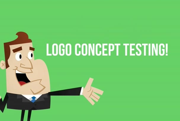 do logo concept testing with 10 people