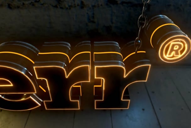 create Fully LOADED 3D Metallic Logo Glow Animation Intro