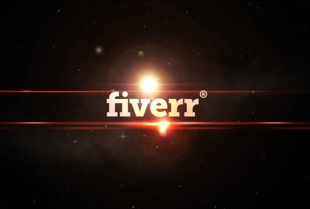 create a space sun flare logo animation
