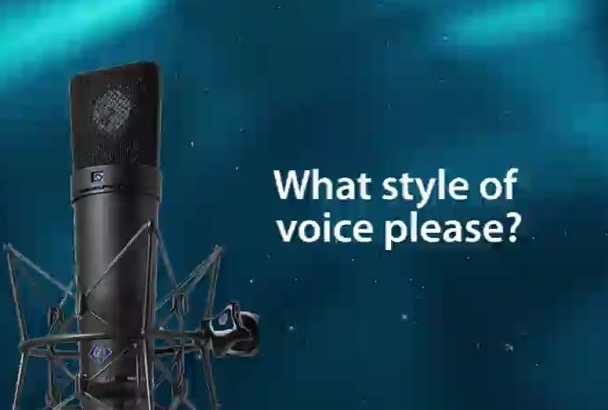 record a professional voiceover