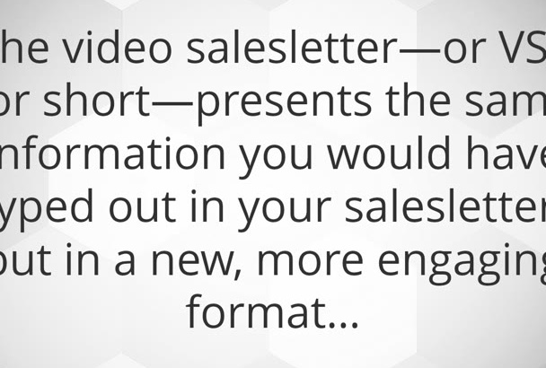create a video sales letter