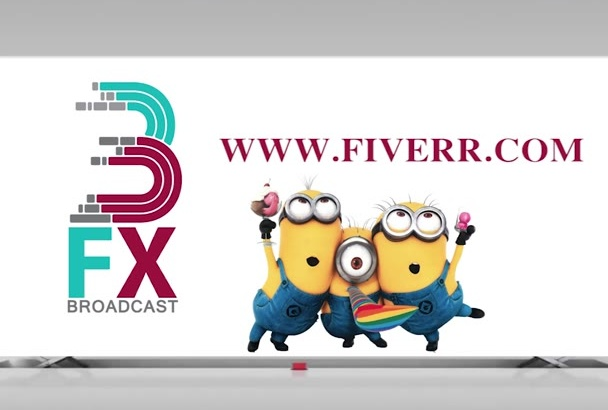 put your text and logo in this Minion intro