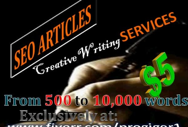 write SEO Articles from 500 to 10,000 words